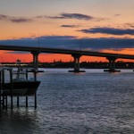 Sunset View of Vilano Bridge by David Youngblood
