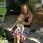 Artist Ginny Bullard and Sunny